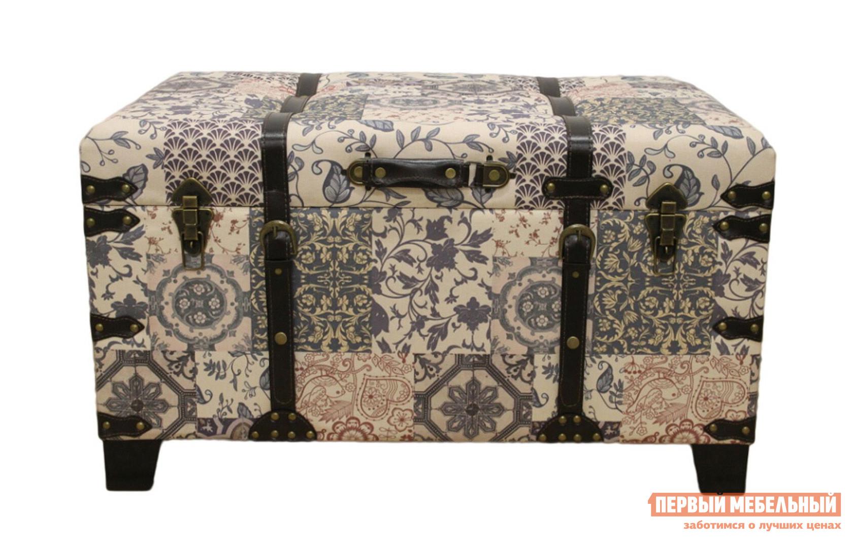 Банкетка МебельТорг 2573 L/M/S Средний, Ткань пэчворк