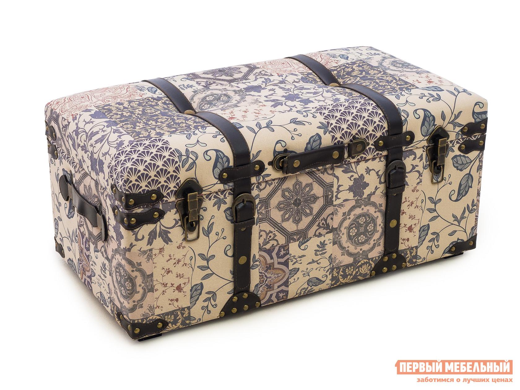 Сундук МебельТорг 2573 L/M/S Средний, Ткань пэчворк
