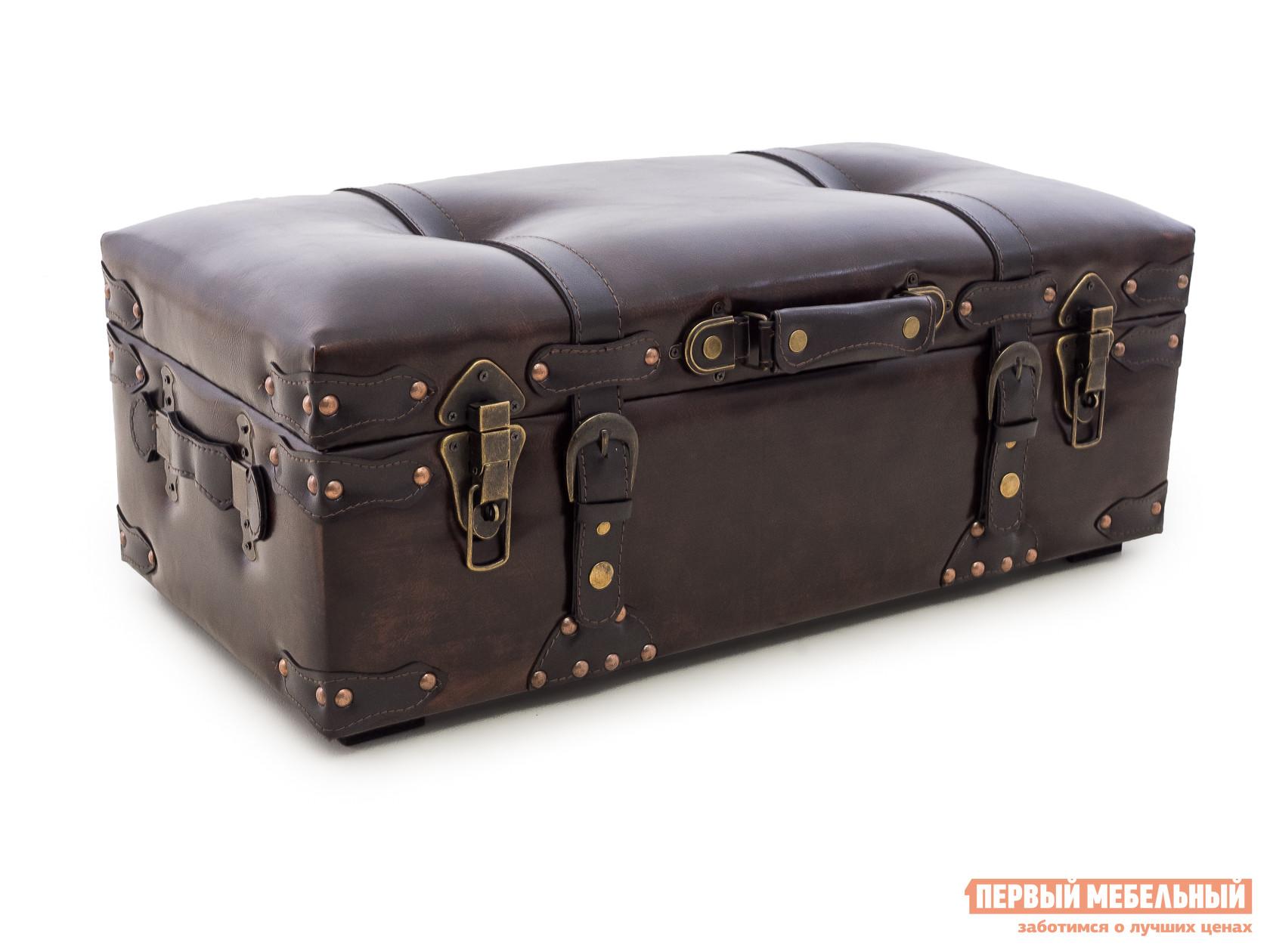Банкетка МебельТорг 2572 L/M/S Средний, Коричневая экокожа