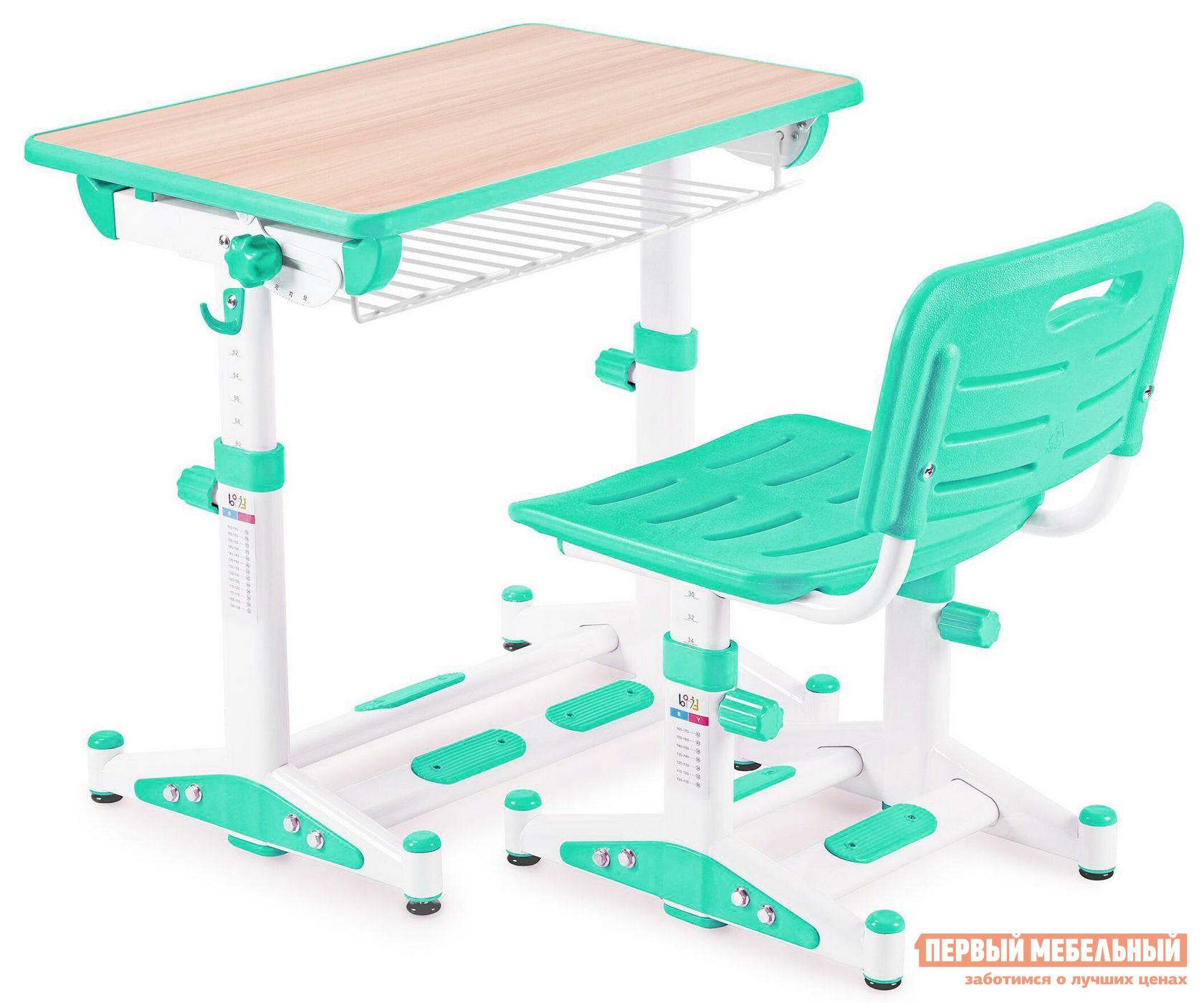 Парта Libao LK-09 Зеленый Libao Габаритные размеры ВхШхГ 520 / 760x700x510 мм. Современный и эргономичный комплект для школьных занятий позволит на долгое время обеспечить ребенка правильной мебелью.  Яркое оформление изделий понравится детям и даже самые сложные уроки будут в радость.  Ортопедические спинка и сиденье стула разработаны так, чтобы сохранить правильную и красивую осанку ребенка с ранних лет. <br><br>Размер стола: 520 / 760 х 700 х 510 мм. <br>Размер стула: 300 / 440 х 380 х 340 мм. <br><br>Стульчик и парта регулируются по высоте.  Под столешницей расположена полочка для книг и тетрадей.  Угол наклона столешницы регулируется в диапазоне от 10 до 45 градусов, помогая настроить ее для различных целей: чтения, письма или рисования.   Стул оснащен решетчатыми сиденьем и спинкой для оптимальной вентиляции. <br>Столешница выполнена из МДФ.  Стул и парт изготовлены из стальной трубы и экологически чистого полипропилена. <br>