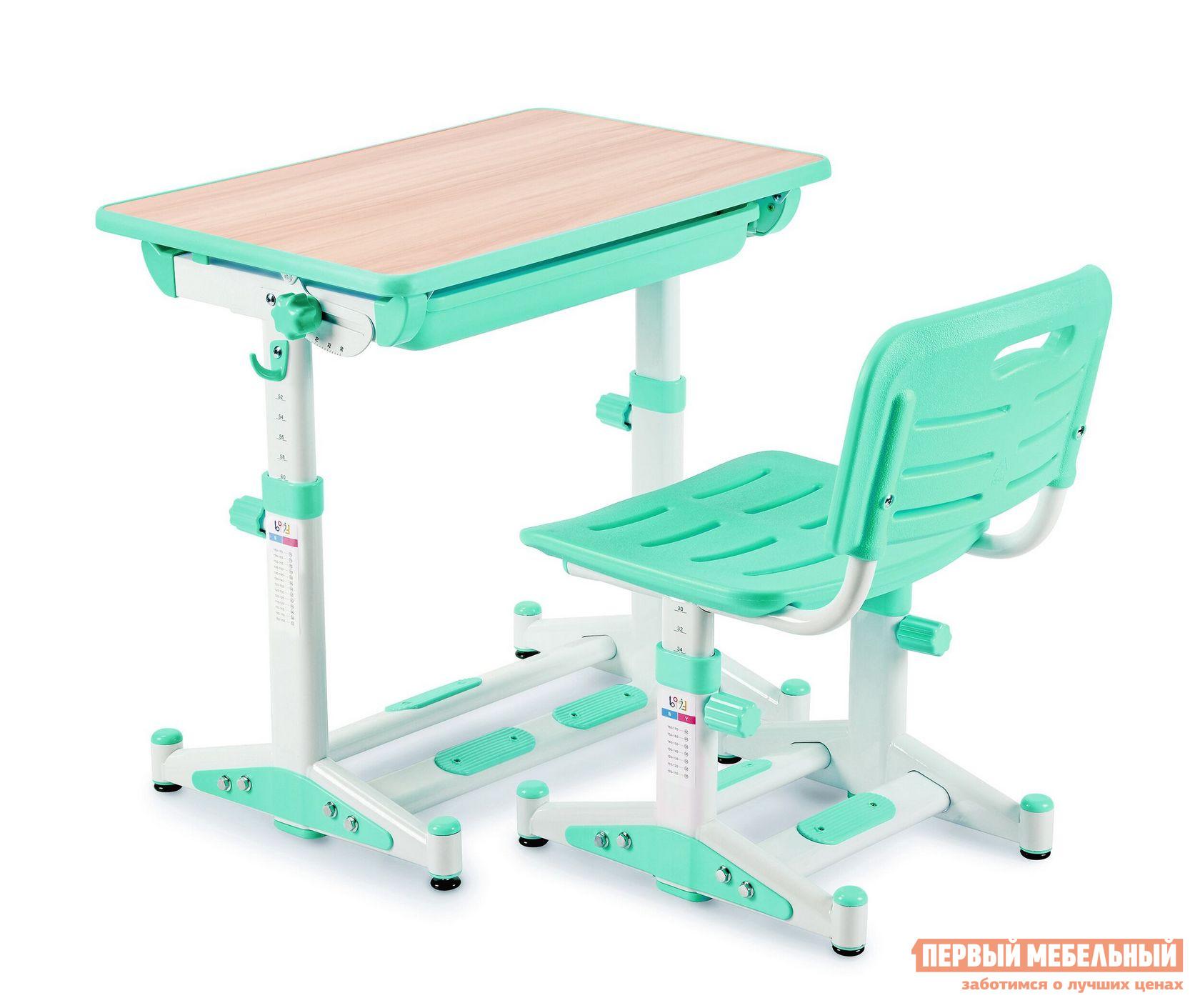 Парта Libao LK-11 ЗеленыйПарты<br>Габаритные размеры ВхШхГ 520 / 760x700x510 мм. Очень важно выбрать для ребенка эргономичную мебель для занятий.  Данный комплект отвечает всем современным и важным требованиям к детским изделиям.  Парта и стул регулируются по высоте, благодаря чему они будут расти параллельно с ребенком.  Угол наклона столешницы настраивается под разные цели от 10 до 45 градусов: для чтения, письма и рисования.  Стол имеет выдвижной ящик для хранение книг, тетрадей и канцелярских принадлежностей.  Стул оснащен решетчатыми сиденьем и спинкой для оптимальной вентиляции.  А также модель способствует хорошей осанке ребенка. Размер стола: 520 / 760 х 700 х 510 мм. Размер стула: 300 / 440 х 380 х 340 мм. Столешница выполнена из МДФ.  Стул и парт изготовлены из стальной трубы и экологически чистого полипропилена.<br><br>Цвет: Зеленый<br>Высота мм: 520 / 760<br>Ширина мм: 700<br>Глубина мм: 510<br>Кол-во упаковок: 1<br>Форма поставки: В разобранном виде<br>Срок гарантии: 1 год<br>Тип: Трансформер<br>Тип: Одноместные<br>Тип: Регулируемые<br>Тип: Растущие<br>Тип: Ортопедические<br>Назначение: Для дома<br>Назначение: Для школьников<br>Материал: Металл<br>Материал: Пластик<br>Материал: МДФ<br>Со стулом: Да<br>Рост ребенка: Рост 115-130 см<br>Рост ребенка: Рост 130-145 см<br>Рост ребенка: Рост 145-160 см<br>Рост ребенка: Рост 160-175 см<br>Рост ребенка: Рост 175-185 см