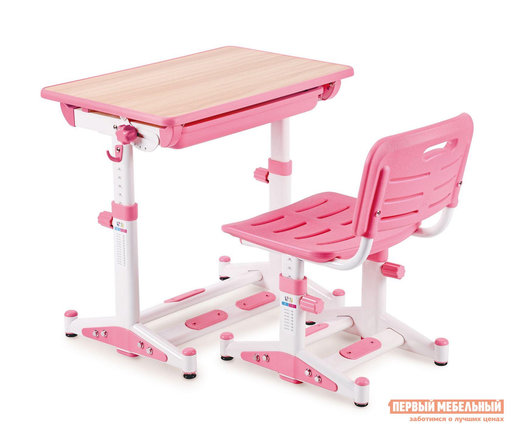 Парта Libao LK-11 Розовый Libao Габаритные размеры ВхШхГ 520 / 760x700x510 мм. Очень важно выбрать для ребенка эргономичную мебель для занятий.  Данный комплект отвечает всем современным и важным требованиям к детским изделиям. <br> Парта и стул регулируются по высоте, благодаря чему они будут расти параллельно с ребенком.  Угол наклона столешницы настраивается под разные цели от 10 до 45 градусов: для чтения, письма и рисования.  Стол имеет выдвижной ящик для хранение книг, тетрадей и канцелярских принадлежностей.  Стул оснащен решетчатыми сиденьем и спинкой для оптимальной вентиляции.  А также модель способствует хорошей осанке ребенка. <br><br>Размер стола: 520 / 760 х 700 х 510 мм. <br>Размер стула: 300 / 440 х 380 х 340 мм. <br><br>Столешница выполнена из МДФ.  Стул и парт изготовлены из стальной трубы и экологически чистого полипропилена. <br>