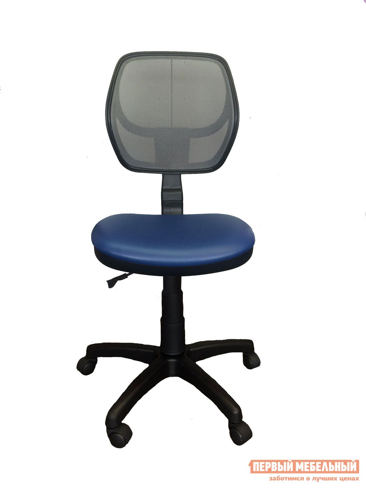 Детское компьютерное кресло Libao LB-C05 Черная сетка / Синий кожзам