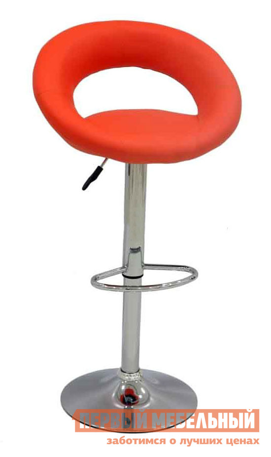 Барный стул Бентли Трейд JY-987 ORANGEБарные стулья<br>Габаритные размеры ВхШхГ 810 / 1030x550x500 мм. Стильный мягкий барный стул с низкой полукруглой спинкой отлично дополнит интерьер кухни или столовой в современном дизайне. Стул регулируется по высоте, благодаря специальному механизму.  Минимальная высота сиденья от пола составляет 610 мм, максимальная — 830 мм. На ножке есть удобная подставка для ног. Обивка стула выполняется из кожзаменителя, основание и ножка — металл.  Максимальная нагрузка на стул составляет 120 кг.<br><br>Цвет: ORANGE<br>Цвет: Красный<br>Цвет: Оранжевый<br>Высота мм: 810 / 1030<br>Ширина мм: 550<br>Глубина мм: 500<br>Форма поставки: В разобранном виде<br>Срок гарантии: 6 месяцев<br>Тип: Для кухни, Регулируемые по высоте, Высота сиденья 600-700мм, Высота сиденья от 800мм<br>Материал: Металлические, из искусственной кожи<br>Форма: Круглые<br>Особенности: С подлокотниками, С мягким сиденьем, С одной ножкой, Со спинкой