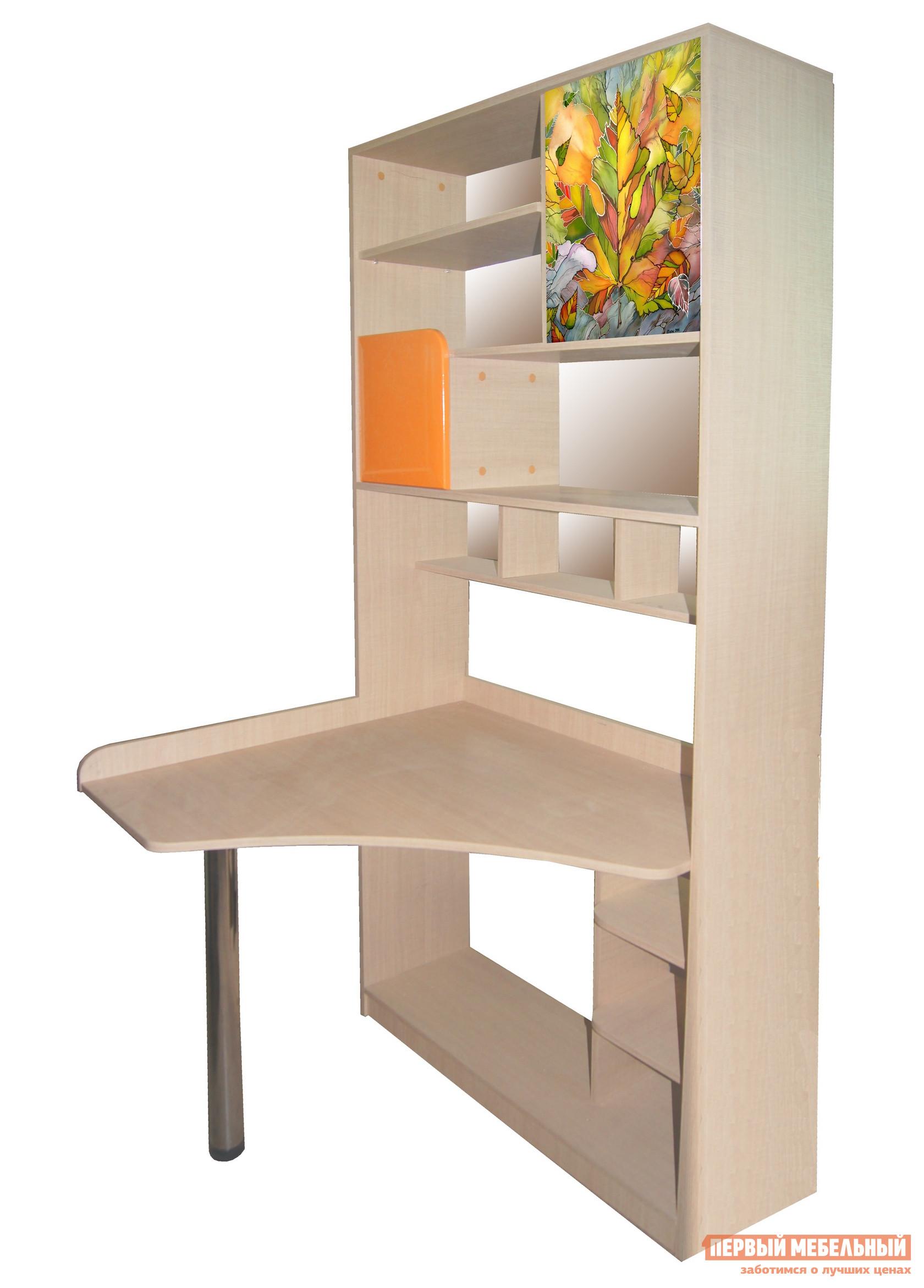 Компьютерный стол МО РОСТ Жили-были Мадейра / Оранжевый глянец от Купистол