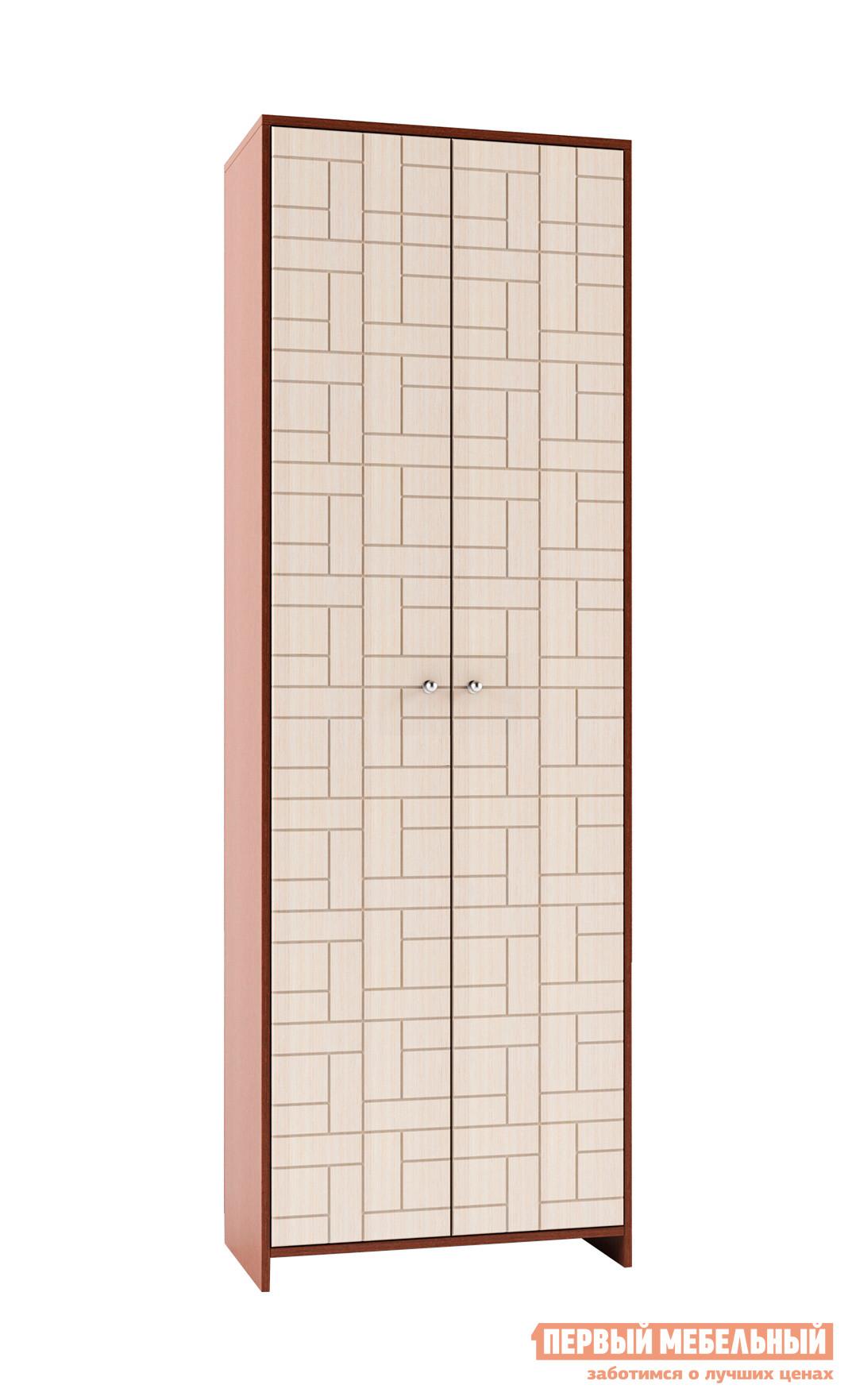 Шкаф распашной МО РОСТ Восток-8М Выбеленный дуб / Венге конгоШкафы распашные<br>Габаритные размеры ВхШхГ 2060x600x380 мм. Шкаф для верхней одежды — отличное решение для хранения вещей.  Его классический вид позволяет разместить модель в любой комнате дома: прихожей, гостиной, спальне.  За распашной дверкой находится антресольная полка и полка внизу.  Изделие производится из ЛДСП.<br><br>Цвет: Темное-cветлое дерево<br>Высота мм: 2060<br>Ширина мм: 600<br>Глубина мм: 380<br>Кол-во упаковок: 3<br>Форма поставки: В разобранном виде<br>Срок гарантии: 1 год<br>Тип: Прямые<br>Материал: Дерево<br>Материал: ЛДСП<br>Размер: Двухдверные<br>С антресолью: Да<br>С рисунком: Да