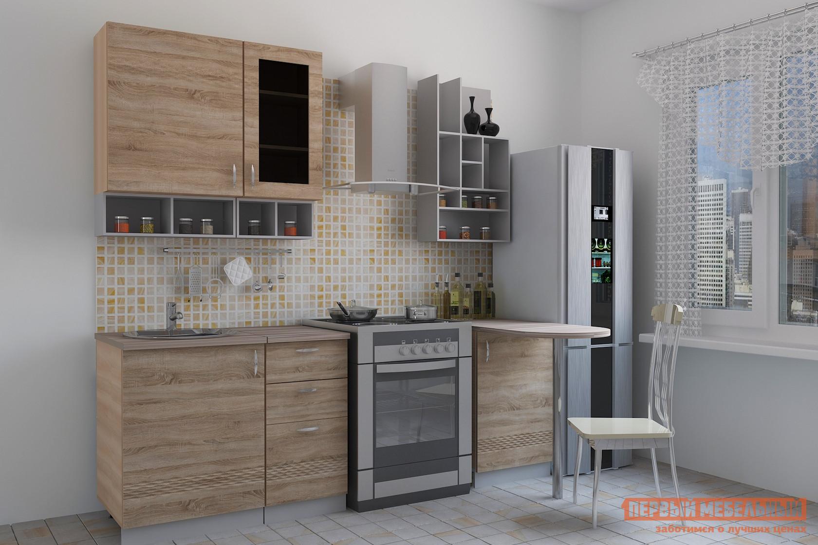 Кухонный гарнитур  Тоскана 5 (quinto) Мадейра / Ясень светлый