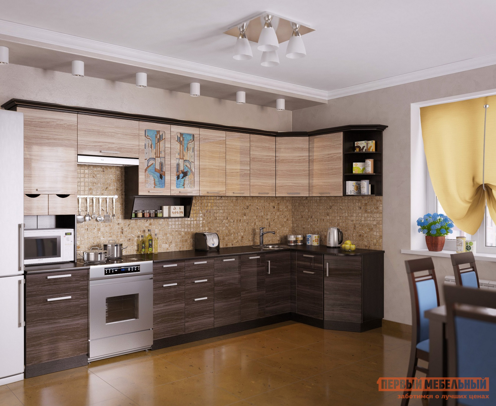 Угловой кухонный гарнитур МО РОСТ Венеция 4 Угол кухонный гарнитур мо рост венеция 2 угол