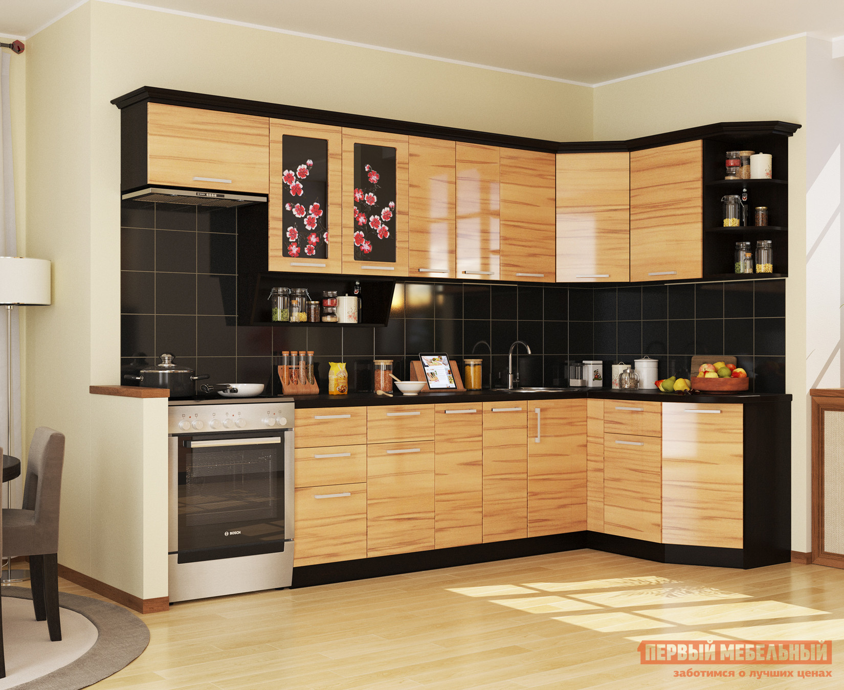Кухонный гарнитур МО РОСТ Сакура Угол 2 кухонный гарнитур трия фэнтези 120 см