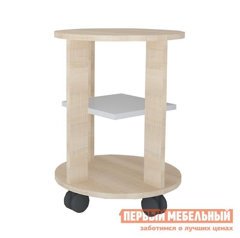 Сервировочный столик МО РОСТ Стол кофейный Первой цены Мадейра / СерыйСервировочные столики<br>Габаритные размеры ВхШхГ 500x394x394 мм. Изящный и одновременно необычный столик на колесиках поможет вам при неожиданном приеме гостей.  Модель оснащена оригинальной полочкой, что позволяет разместить необходимые предметы на трех уровнях. Максимальная нагрузка на столик не должна превышать 15 кг. Материал изготовления — ЛДСП.<br><br>Цвет: Серый<br>Цвет: Светлое дерево<br>Высота мм: 500<br>Ширина мм: 394<br>Глубина мм: 394<br>Кол-во упаковок: 1<br>Форма поставки: В разобранном виде<br>Срок гарантии: 1 год<br>Материал: Дерево<br>Материал: ЛДСП<br>Форма: Круглые<br>Размер: Маленькие<br>С полкой: Да<br>На колесиках: Да<br>3-х ярусный: Да