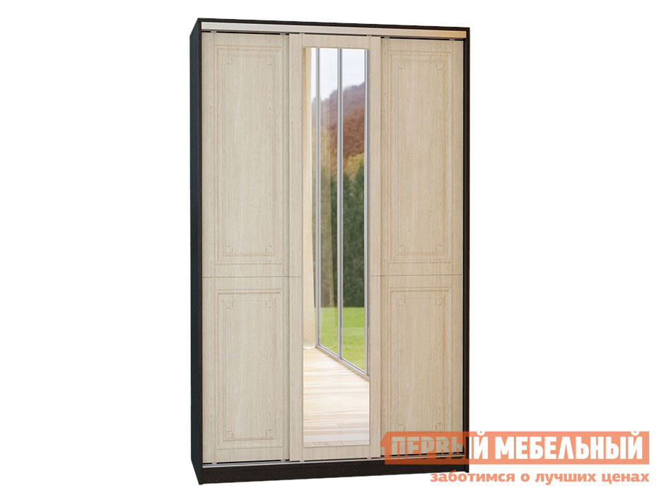 цены Узкий шкаф-купе МО РОСТ Шкаф-купе 3-х дверный с зеркалом