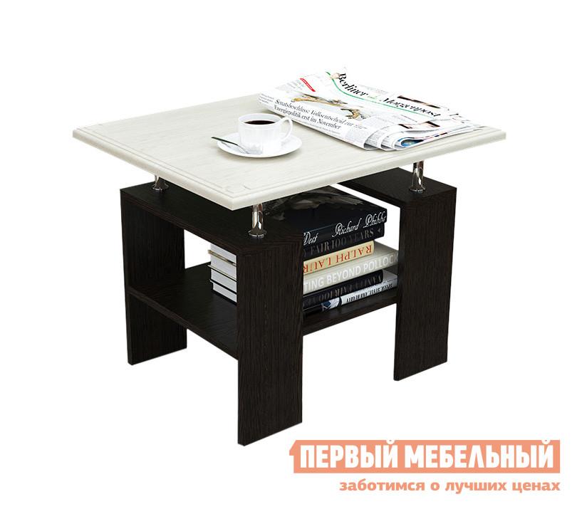Журнальный столик МО РОСТ Стол журнальный Сибирь Венге Магия / Выбеленный дуб