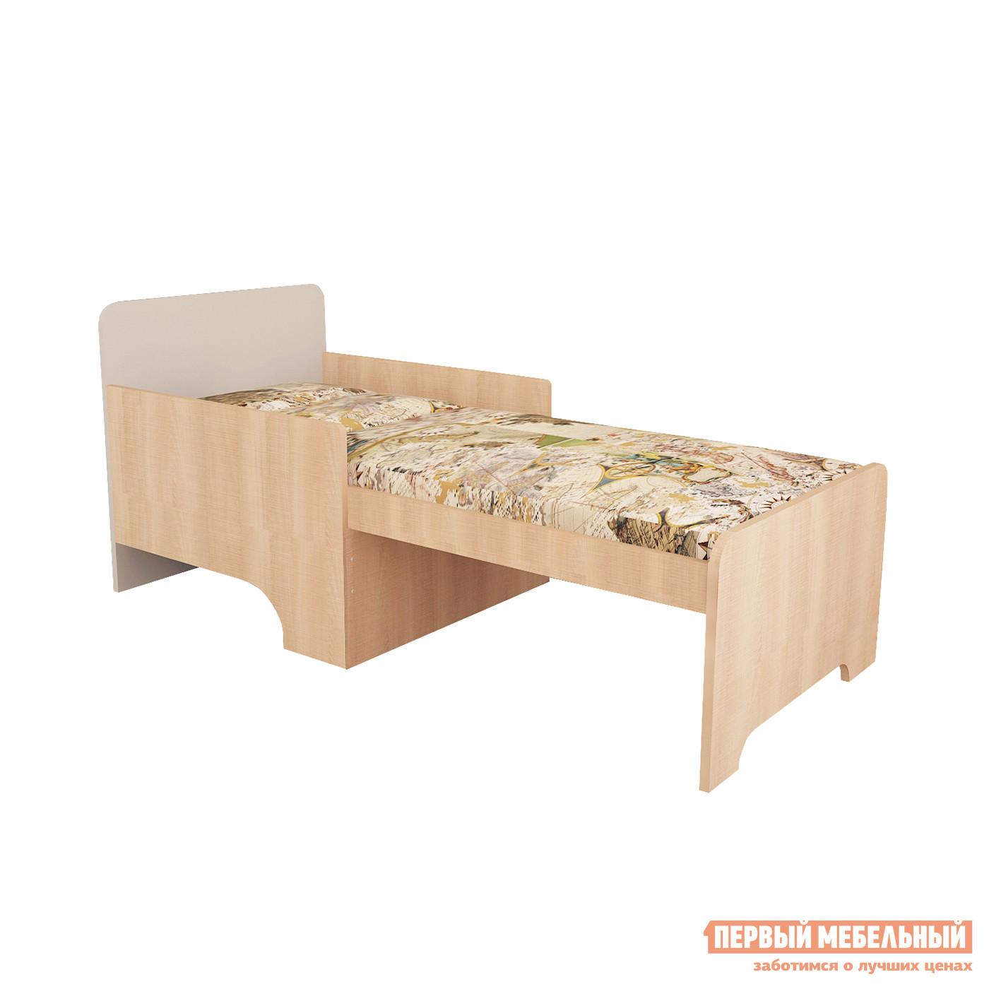 Детская кровать МО РОСТ Кровать вырастайка Первой цены Мадейра / СерыйДетские кровати<br>Габаритные размеры ВхШхГ 660x684x1232 / 1632 мм. Современная и лаконичная кровать для юных непосед будет расти вместе со своим обладателем. Удобный матрас и подушки, которые входят в комплект, подарят только самые приятные сновидения. Материал изготовления — ЛДСП.<br><br>Цвет: Серый<br>Цвет: Светлое дерево<br>Высота мм: 660<br>Ширина мм: 684<br>Глубина мм: 1232 / 1632<br>Кол-во упаковок: 2<br>Форма поставки: В разобранном виде<br>Срок гарантии: 1 год<br>Тип: Раздвижные<br>Тип: Трансформер<br>Тип: Одноярусные<br>Назначение: Для разного возраста<br>Материал: ЛДСП<br>Размер: Маленькие<br>Размер: Низкие<br>С бортиками: Да<br>С матрасом: Да<br>Возраст: От 3-х лет<br>Возраст: От 2-х лет<br>Возраст: От 4-х лет<br>Возраст: От 5 лет<br>Пол: Для девочек<br>Пол: Для мальчиков<br>Размер спального места: Односпальные
