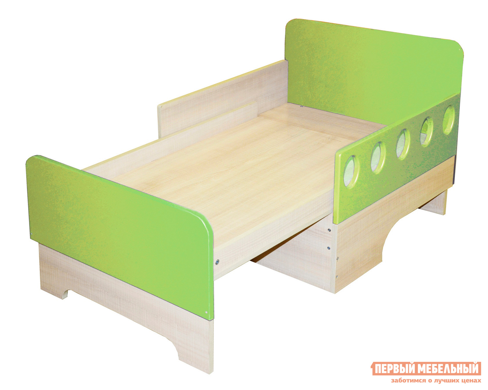 Детская кровать МО РОСТ Жили-были вырастайка Мадейра / Зеленый глянец