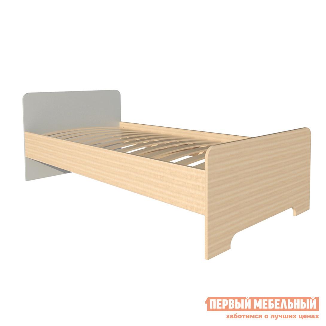 Детская кровать МО РОСТ Кровать односпальная Первой цены Мадейра / Серый, Без матраса