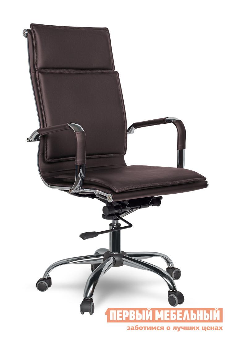 Кресло руководителя College XH-635 Коричневый College Габаритные размеры ВхШхГ 1100 / 1160x500x470 мм. Удобное офисное руководительское кресло College XH-635 в современном дизайне.  Модель станет стильным дополнением офиса, так и в домашний кабинет.  Высокая спинка и мягкое сидение обеспечат комфортное пребывание руководителя в офисном кресле. <br>Кресло College оборудовано механизмом качания Топ-ган с регулировкой под вес и фиксацией в вертикальном положении. </br>Высота сидения регулируется при помощи газлифта от 49 до 55 см. </br>Высота спинки составляет 71 см. <br>Обивка модели XH-635 выполнена из кожи PU. </br>Крестовина и подлокотники изготовлены хромированного металла. </br>Подлокотники оформлены кожаными накладками. </br>Колесики изготавливаются из полиамида по стандарту BIFMA 5,1. </br>Максимальная нагрузка на офисное кресло — 120 кг. <br>