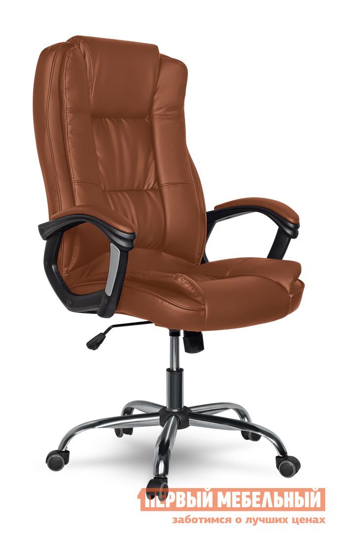 Кресло руководителя College XH-2222 Коричневый College Габаритные размеры ВхШхГ 1090 / 1190x520x510 мм. Классическое кресло для руководителей.  Модель станет стильным дополнением как в офисе, так и в домашнем кабинете.  Мягкие спинка и сиденье обеспечат комфортное пребывание в кресле. <br>Кресло оборудовано механизмом качания Топ-ган с регулировкой под вес сидящего и фиксацией спинки в вертикальном положении. </br>Высота сиденья регулируется при помощи газлифта от 35 до 45 см. </br>Высота спинки составляет 71 см. <br>Обивка выполнена из кожи PU. </br>Крестовина и подлокотники изготовлены из ударопрочного пластика. </br>Подлокотники оформлены мягкими кожаными накладками. </br>Колесики изготавливаются из полиамида по стандарту BIFMA 5,1. </br>Максимальная нагрузка на кресло — 120 кг. <br>