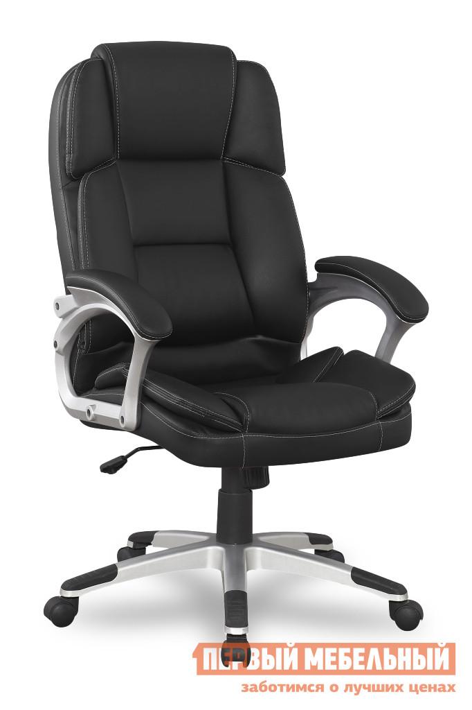 Кресло руководителя College BX-3323 ЧерныйКресла руководителя<br>Габаритные размеры ВхШхГ 1150 / 1250x520x510 мм. Классическое кресло, которое станет прекрасным дополнением как в офисе, так и в домашнем кабинете.  Мягкие спинка и подлокотники  обеспечат комфортное рабочее время. Кресло оборудовано механизмом качания с регулировкой под вес сидящего и фиксацией спинки в вертикальном положении. Высота сиденья регулируется при помощи газлифта от 42 до 52 см. Высота спинки составляет 73 см. Обивка выполнена из кожи PU. Крестовина и подлокотники изготовлены из ударопрочного пластика. Подлокотники оформлены мягкими кожаными накладками. Колесики изготавливаются из полиамида по стандарту BIFMA 5,1. Максимальная нагрузка на кресло — 120 кг.<br><br>Цвет: Черный<br>Цвет: Черный<br>Высота мм: 1150 / 1250<br>Ширина мм: 520<br>Глубина мм: 510<br>Кол-во упаковок: 1<br>Форма поставки: В разобранном виде<br>Срок гарантии: 18 месяцев<br>Тип: До 80 кг, До 100 кг, До 120 кг, До 90 кг<br>Материал: Кожаные, из искусственной кожи<br>Особенности: Эргономичные, С подлокотниками, С пластиковой крестовиной, С подголовником
