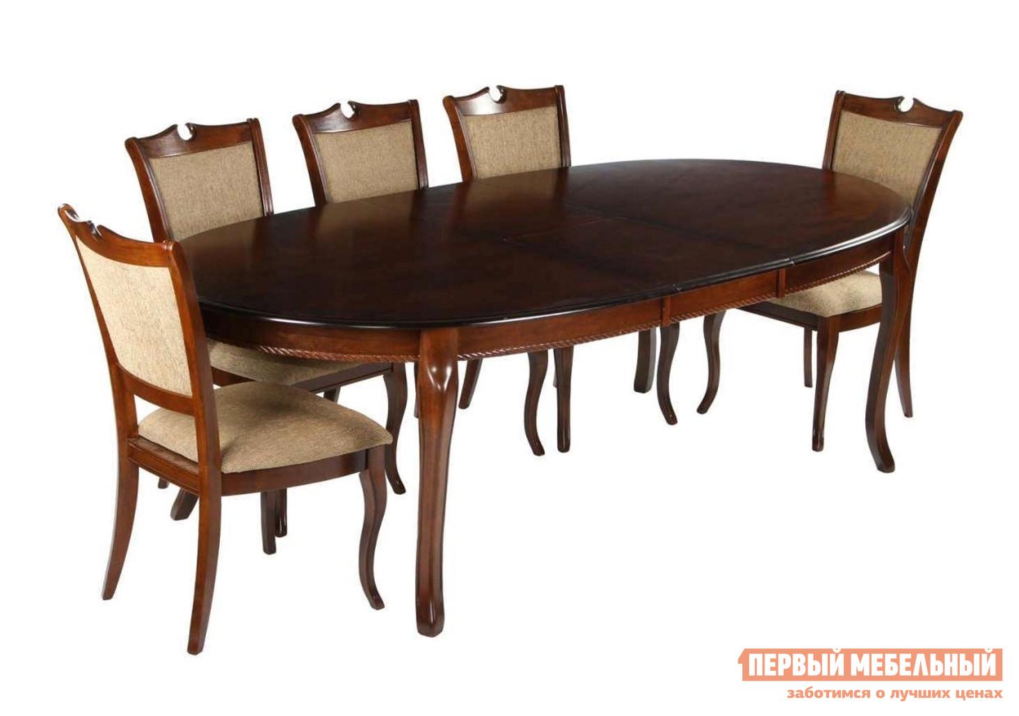 Обеденный стол МИК Мебель MK-1217 Темный орех