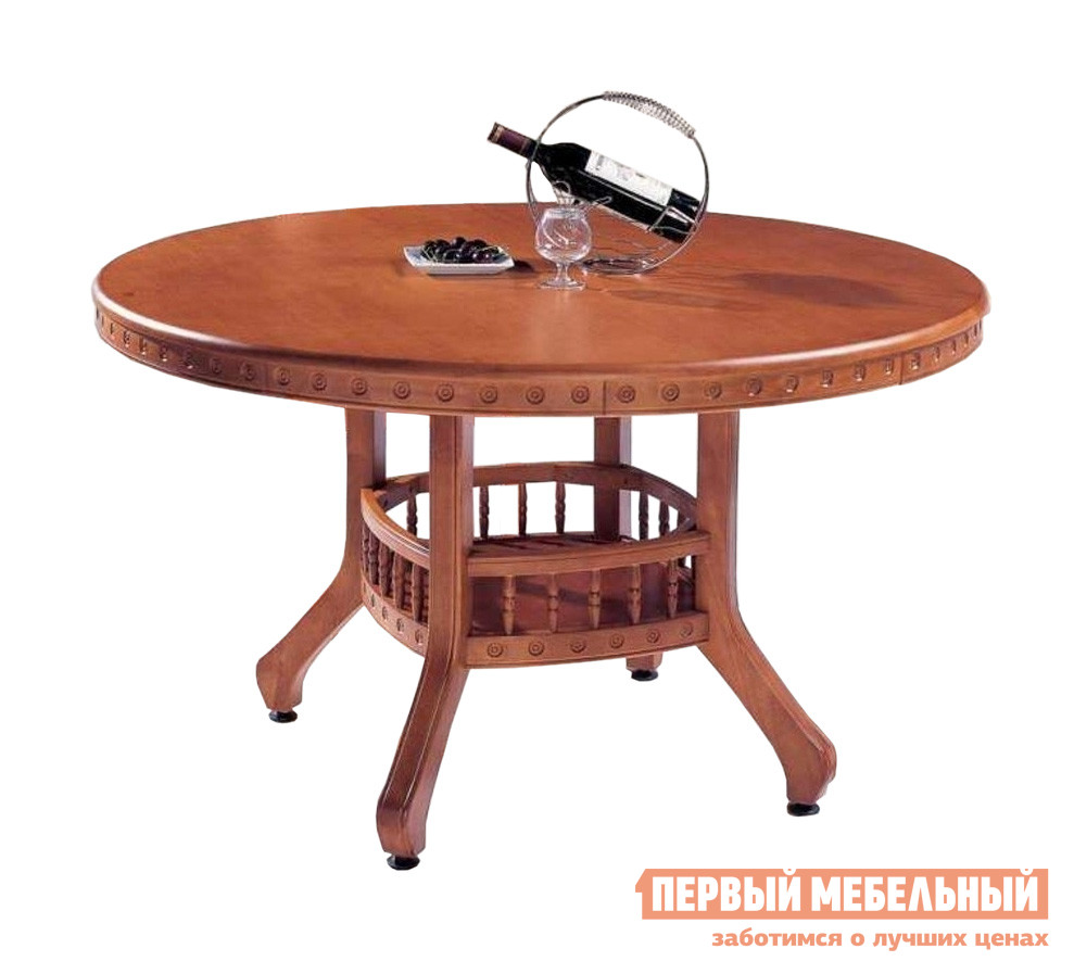 Овальный обеденный стол из гевеи МИК Мебель MK-1402
