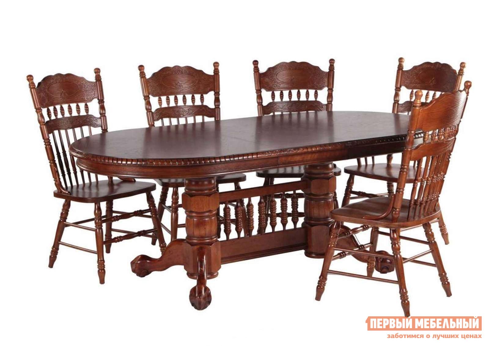 Обеденная группа для гостиной МИК Мебель Стол MK-1104-HG + 5 стульев MK-1117-HG eplutus ep 1104 в тамбове
