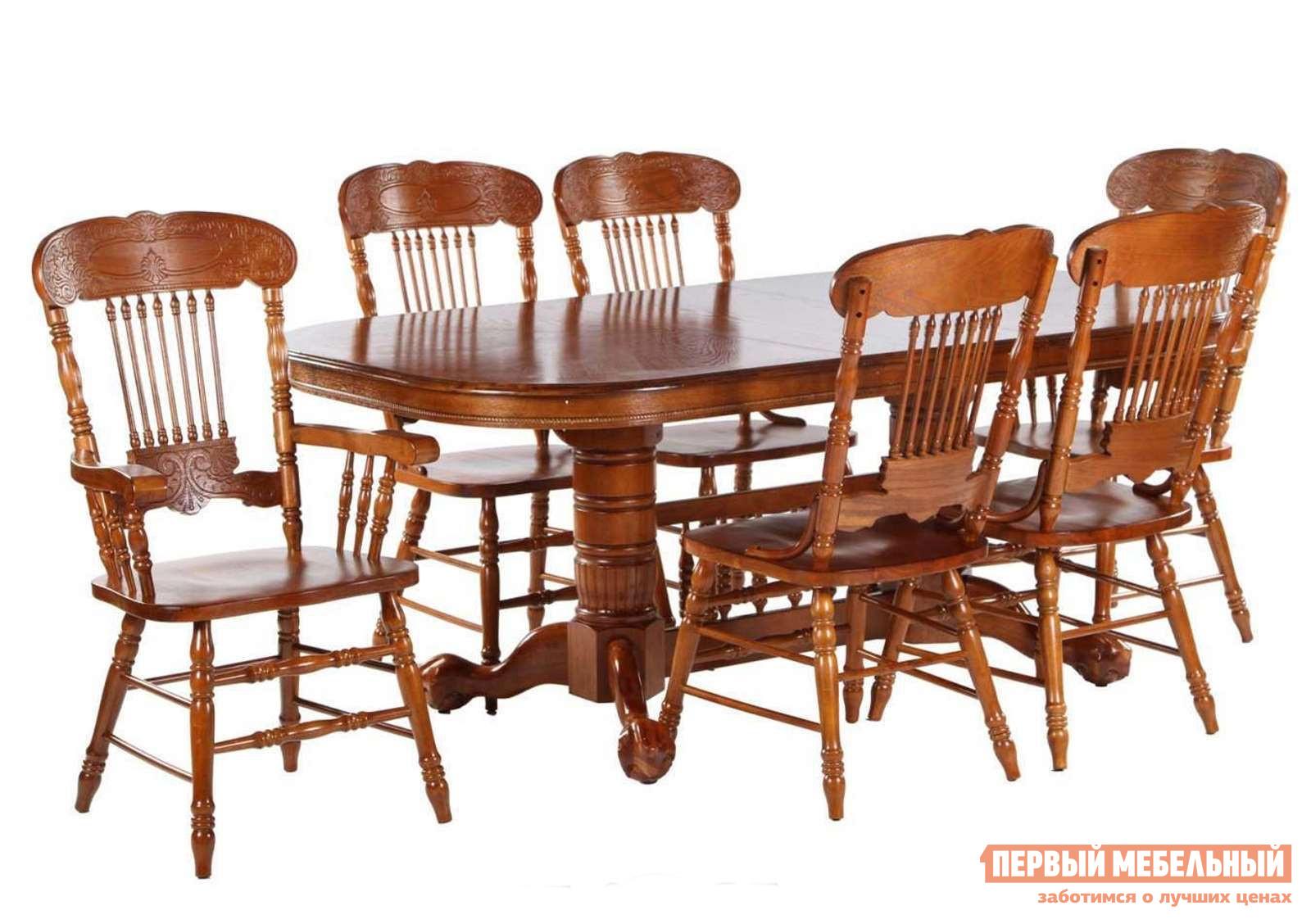 Обеденная группа для гостиной МИК Мебель Стол MK-1109-GG + 4 стула MK-1119-GG + 2 стула MK-1118-GG