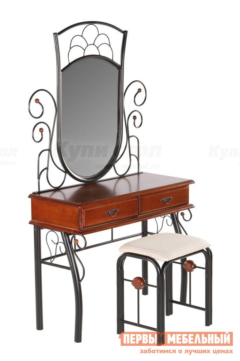Туалетный столик МИК Мебель MK-1931-RO мик мебель компьютерный стол мик мебель mk 2304 черный хром
