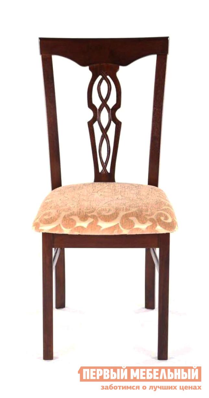 Стул МИК Мебель MK-1509-CP Темный орех / Флори беж