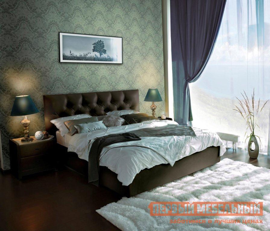 Кожаная двуспальная кровать Askona Marlena ПМ