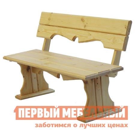 Скамейка МФДМ Комфорт (лак) Скамья деревянная с фигурной спинкой Массив сосны (лак)Скамейки и лавочки<br>Габаритные размеры ВхШхГ 840x1450x510 мм. Классическая деревянная скамья Комфорт-СФ изготовлена из натурального массива сосны.  Данная модель будет органично смотреться в любом уголке сада, а также подойдёт для оформления летней веранды, беседки или обеденной зоны на открытом воздухе.  Изделие окрашено специальным лаком, который используется для обработки яхт.  Благодаря такому прозрачному покрытию, удаётся сохранить естественный вид изделия и повысить его стойкость к различным внешним воздействиям. Особое очарование скамье придаёт фигурная спинка и царга.<br><br>Цвет: Светлое дерево<br>Высота мм: 840<br>Ширина мм: 1450<br>Глубина мм: 510<br>Кол-во упаковок: 1<br>Форма поставки: В разобранном виде<br>Срок гарантии: 12 месяцев<br>Тип: Со спинкой<br>Назначение: Для дачи<br>Назначение: Для бани<br>Назначение: Для дома<br>Назначение: Для сада<br>Материал: Дерево<br>Порода дерева: Сосна<br>Размер: Большие<br>Размер: Узкие<br>Без подлокотников: Да<br>Стиль: Прованс