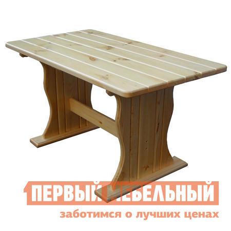 Садовый стол МФДМ Уют (лак) Стол деревянный Массив сосны (лак), Столешница 1450 Х 800 ммСадовые столы<br>Габаритные размеры ВхШхГ 770x1200 / 1450x600 / 800 мм. Стол, действительно созданный для уюта.  Массивный, из натуральной сосны, он привнесет в атмосферу сада и дома тепло и гармонию.  Простая и надежная конструкция прослужит долгие годы. Вы можете выбрать из двух представленных размеров столешницы:1200 х 600 мм;1450 х 800 мм. Массив сосны хорошо обработан и покрыт защитным водостойким лаком. Столешница имеет толщину 28 мм.<br><br>Цвет: Светлое дерево<br>Высота мм: 770<br>Ширина мм: 1200 / 1450<br>Глубина мм: 600 / 800<br>Кол-во упаковок: 1<br>Форма поставки: В разобранном виде<br>Срок гарантии: 12 месяцев<br>Тип: Обеденные<br>Материал: Массив дерева<br>Порода дерева: Сосна<br>Форма: Прямоугольные<br>Размер: Большие