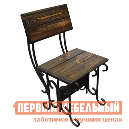 Садовое кресло МФДМ Стул кованый Гнутик Массив сосны под старину от Купистол