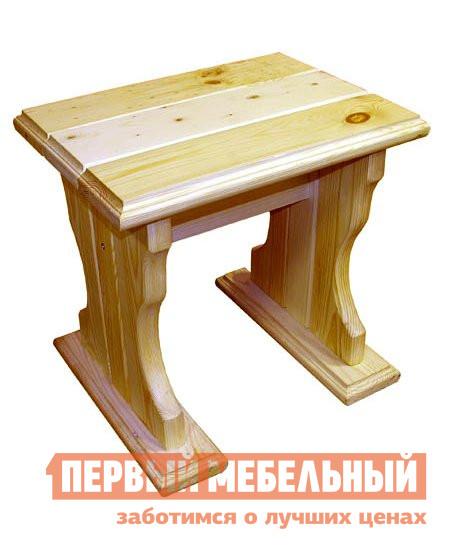 Садовое кресло МФДМ Уют (лак) Табурет деревянный Массив сосны (лак)Садовые стулья и кресла<br>Габаритные размеры ВхШхГ 430x450x330 мм. Устойчивый и прочный деревянный табурет станет незаменимым помощником в загородном доме или на дачном участке.  Выполненный из массива сосны в традиционном стиле, он подарит вам тепло натурального дерева и ощущение уюта. Изделие тщательно обработано и покрыто водостойким лаком.<br><br>Цвет: Светлое дерево<br>Высота мм: 430<br>Ширина мм: 450<br>Глубина мм: 330<br>Кол-во упаковок: 1<br>Форма поставки: В разобранном виде<br>Срок гарантии: 12 месяцев<br>Тип: До 80 кг<br>Тип: До 100 кг<br>Тип: До 120 кг<br>Тип: Без спинки<br>Материал: Массив дерева<br>Порода дерева: Сосна<br>Форма: Квадратные<br>Размер: Большие<br>Высота: Высота 45 см<br>С жестким сиденьем: Да<br>Без подлокотников: Да<br>С деревянными ножками: Да<br>Стиль: Классический