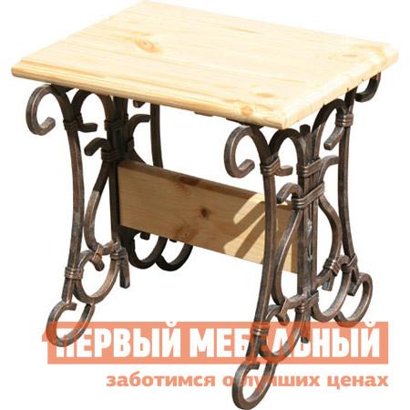 Садовое кресло МФДМ Табурет кованый Лира Массив сосны (лак)Садовые стулья и кресла<br>Габаритные размеры ВхШхГ 480x450x405 мм. Табурет, который будет украшать ваш сад, террасу или летнее кафе долгие годы.  Его классический стиль поддерживается благородным и проверенным временем сочетанием материалов.  Такая модель лишь приобретет ценность с годами. Изделие специально подготовлено к эксплуатации на свежем воздухе, защищено от ржавления, не требует специального ухода.  Сиденье изготовлена из массива сосны и имеет толщину 35 мм.  Поверхность покрыта влагостойкий яхтенным лаком и, в темном варианте, дополнена морилкой дубового оттенка под старину.  Металлическое основание имеет покрытие порошковой краской с золотистым отливом.<br><br>Цвет: Светлое дерево<br>Высота мм: 480<br>Ширина мм: 450<br>Глубина мм: 405<br>Кол-во упаковок: 1<br>Форма поставки: В разобранном виде<br>Срок гарантии: 12 месяцев<br>Тип: До 80 кг<br>Тип: До 100 кг<br>Тип: До 120 кг<br>Тип: Без спинки<br>Тип: Кованые<br>Назначение: Для дачи<br>Материал: Металл<br>Материал: Массив дерева<br>Порода дерева: Сосна<br>Форма: Квадратные<br>Размер: Большие<br>С жестким сиденьем: Да<br>С металлическими ножками: Да<br>Без подлокотников: Да<br>Стиль: Классический