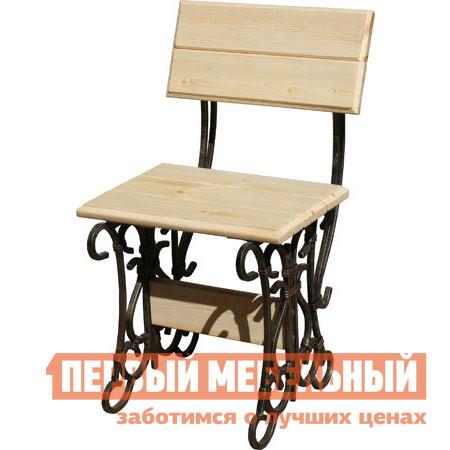 Садовое кресло МФДМ Стул кованый Лира Массив сосны (лак)