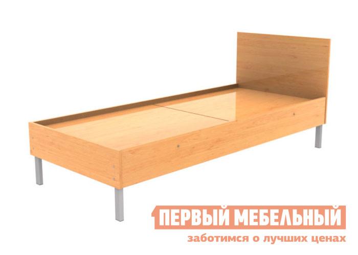 Металлическая кровать МТМ КМ9 Серый / Ольха