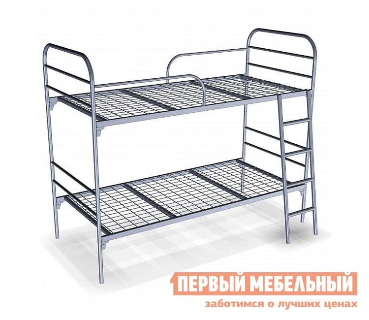 Металлическая кровать Метмебель Близнецы КМ 11 СерыйМеталлические кровати<br>Габаритные размеры ВхШхГ 1700x2064x912 мм. Брутальная по исполнению металлическая двухъярусная кровать KM11 невероятно практична.  Она может использоваться как на даче в качестве гостевой или детской или даже в детском лагере. В зависимости от ситуации и площади помещения, кровать можно использовать как две обычные односпальные кровати или же как двухъярусную.  Модель легко собирается и разбирается, а верхний ярус снабжен для безопасности защитными ограждениями.  Приставная лестница закрепляется с помощью крючков, что позволяет легко перемещать ее при необходимости. Основания изготовлены  из сварной сетки.  Размер каждого спального места 900 х 2000 мм.  Верхний ярус располагается в 1270 мм от пола, а нижний на высоте 380 мм.  Допустимая нагрузка на каждое спальное место составляет 140 кг.<br><br>Цвет: Серый<br>Высота мм: 1700<br>Ширина мм: 2064<br>Глубина мм: 912<br>Форма поставки: В разобранном виде<br>Срок гарантии: 12 месяцев<br>Тип: Разборные<br>Тип: Одноярусные<br>Тип: Двухъярусные<br>Назначение: Для подростков<br>Материал: Металл<br>Размер: Спальное место 90Х200<br>С сеткой: Да<br>Пол: Для девочек<br>Пол: Для мальчиков