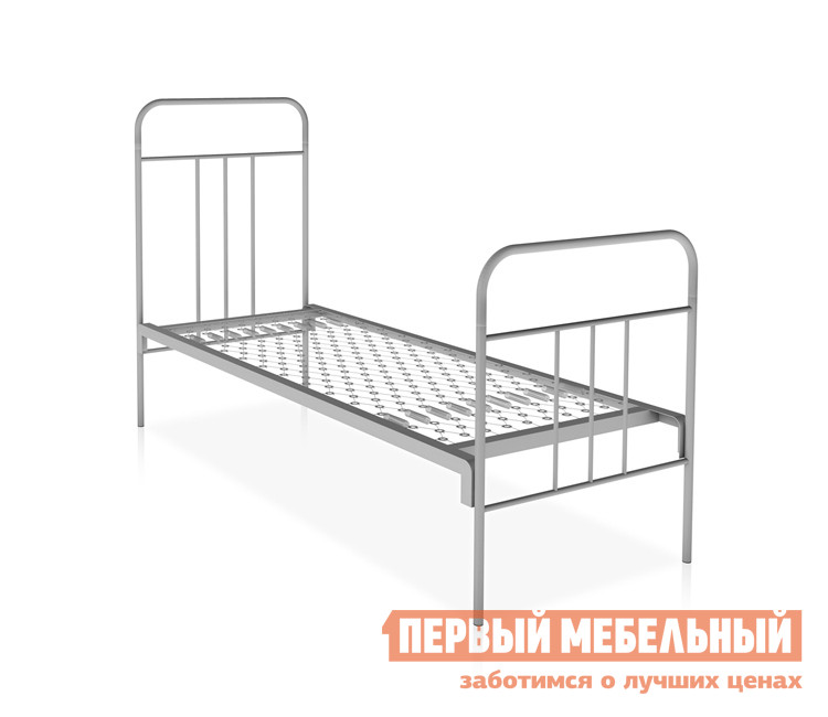 Металлическая кровать Метмебель КМ6 тип А СерыйМеталлические кровати<br>Габаритные размеры ВхШхГ 850 / 1140x1956x700 мм. Металлическая односпальная кровать оснащена упругим основанием, выполненным из ромбической сетки.  Изделие комфортно и удобно в использовании.  Модель оснащена высоким изголовьем и изножьем, на которое можно облокачиваться или повесить вещи. Размер спального места (ШхГ): 1900 х 700 мм; Высота от пола до спального места — 420 мм.  Спинка выполнена из металлической трубы диаметром 12, 20 и 28 мм.  Детали соединяются между собой при помощи клинового крепления. Металл обработан специальным порошковым покрытием, которые препятствует образованию коррозии и защищает от механических повреждений.<br><br>Цвет: Серый<br>Цвет: Серый<br>Высота мм: 850 / 1140<br>Ширина мм: 1956<br>Глубина мм: 700<br>Форма поставки: В разобранном виде<br>Срок гарантии: 12 месяцев<br>Тип: Одноярусные<br>Размер: Спальное место 70Х190<br>Особенности: С сеткой