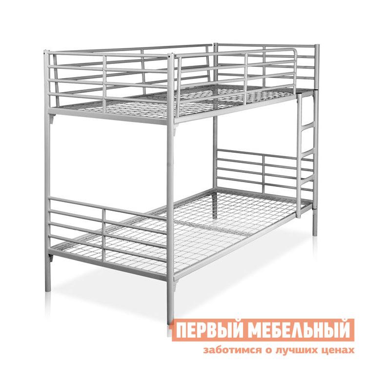 Двухъярусная металлическая кровать для взрослых Метмебель ЛИРА