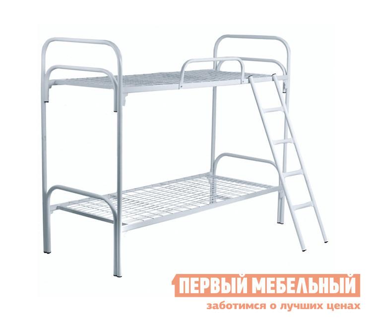 Металлическая кровать  КМ17 Белый