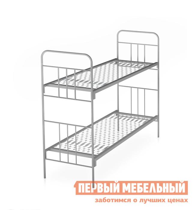 Металлическая двухъярусная кровать для взрослых Метмебель КМ6 тип Б