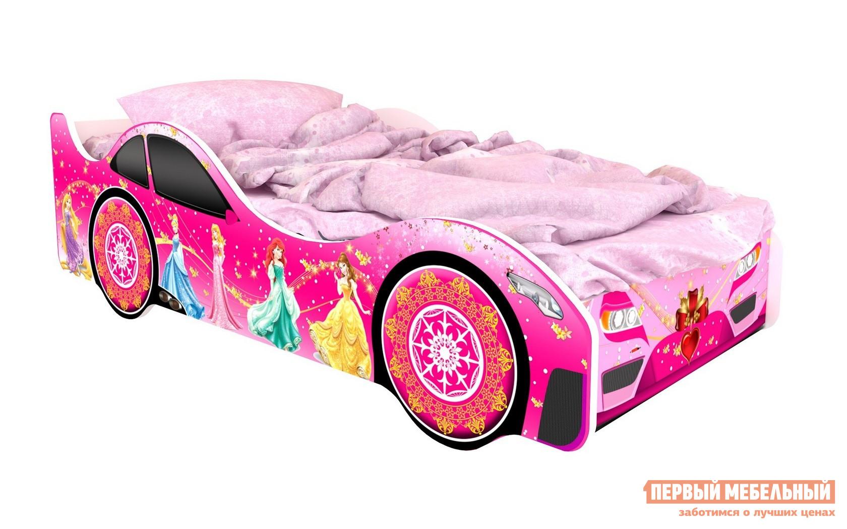 Детская двухъярусная кровать Киндер Город Розовый (Вена), Без подсветки от Купистол