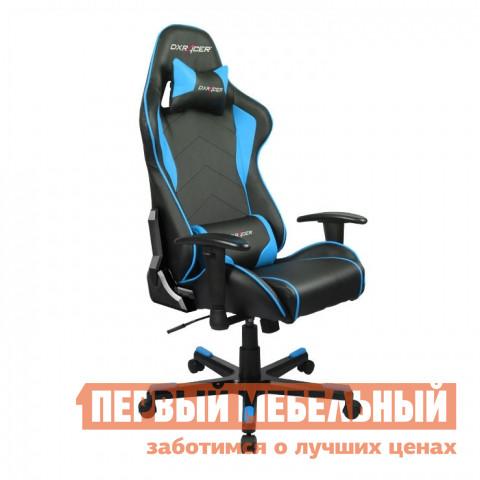 Компьютерное кресло DxRacer OH/FE08 Черный / Голубой DxRacer Габаритные размеры ВхШхГ 1270 / 1346x686x530 мм. Кресла DXRacer OH/FE08 серии Formula предназначены для киберспортсменов, участвующих в виртуальных гонках.  <br>Если вы фанат спортивных авто и непревзойденного комфорта, то это кресло идеально подойдет для вас.  Эргономичная форма была создана специально для профессиональных геймеров, проводящих много часов подряд за игрой не меняя положения.  Кресло подойдет также и для любого человека, который ценит удобство при работе за компьютером. <br>DXRacer OH/FE08 имеет высокую боковую поддержку, анатомически правильные изгибы и множество регулировок, которые обеспечат стопроцентный комфорт.  Данная модель отлично подойдет людям среднего роста, в том числе девушкам и подросткам. <br><br>Подлокотники регулируются по высоте;<br>Высота сиденья регулируется от 370 до 450 мм;<br>Механизм качания Топ-Ган;<br>Наклон сиденья слитно со спинкой в пределах 12 градусов;<br>Газлифт-механизм высокого качества;<br>Спинка отклоняется в пределах 170 градусов;<br>В комплекте подушки под голову и поясницу;<br>Крестовина: алюминий;<br>Обивка: полиуретановая искусственная кожа;<br>Наполнение: пена высокой плотности;<br>Прорезиненные ролики со стопперами. <br>Рекомендуемый рост сидящего: 170-180 см. <br>Максимальная нагрузка: 120 кг. <br><br>