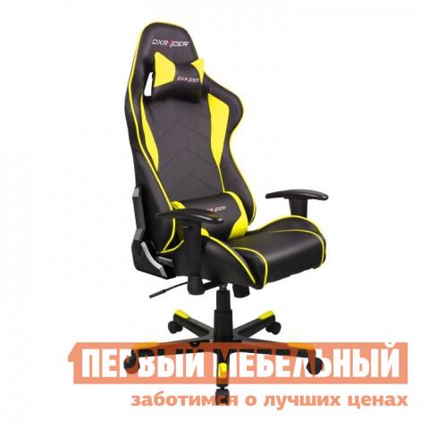 Компьютерное кресло DxRacer OH/FE08 Черный / Желтый DxRacer Габаритные размеры ВхШхГ 1270 / 1346x686x530 мм. Кресла DXRacer OH/FE08 серии Formula предназначены для киберспортсменов, участвующих в виртуальных гонках.  <br>Если вы фанат спортивных авто и непревзойденного комфорта, то это кресло идеально подойдет для вас.  Эргономичная форма была создана специально для профессиональных геймеров, проводящих много часов подряд за игрой не меняя положения.  Кресло подойдет также и для любого человека, который ценит удобство при работе за компьютером. <br>DXRacer OH/FE08 имеет высокую боковую поддержку, анатомически правильные изгибы и множество регулировок, которые обеспечат стопроцентный комфорт.  Данная модель отлично подойдет людям среднего роста, в том числе девушкам и подросткам. <br><br>Подлокотники регулируются по высоте;<br>Высота сиденья регулируется от 370 до 450 мм;<br>Механизм качания Топ-Ган;<br>Наклон сиденья слитно со спинкой в пределах 12 градусов;<br>Газлифт-механизм высокого качества;<br>Спинка отклоняется в пределах 170 градусов;<br>В комплекте подушки под голову и поясницу;<br>Крестовина: алюминий;<br>Обивка: полиуретановая искусственная кожа;<br>Наполнение: пена высокой плотности;<br>Прорезиненные ролики со стопперами. <br>Рекомендуемый рост сидящего: 170-180 см. <br>Максимальная нагрузка: 120 кг. <br><br>