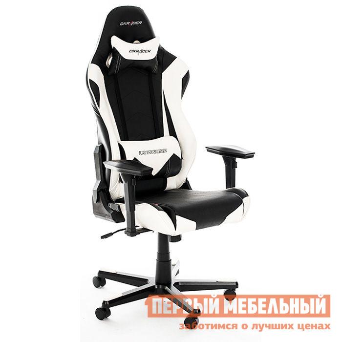 Компьютерное кресло DxRacer OH/RE0 Черный / БелыйИгровые кресла<br>Габаритные размеры ВхШхГ 1350 / 1270x690x533 мм. Кресла DXRacer OH/RE0/NB серии Racing созданы с учетом пожеланий и потребностей людей, которые много времени проводят за компьютером.  Благодаря широкой спинке, кресла подходят даже для широкоплечих и высоких людей. Яркое кресло для геймеров в стиле сидений для гоночных автомобилей.  Его форма специальным образом подобрана для максимального комфорта даже при беспрерывном многочасовом использовании в одном положении.  Профессиональное игровое кресло как нельзя лучше подходит и для длительной и продуктивной работы за компьютером.  Подобрать удобную позу поможет множество регулировок, а стопроцентную поддержку обеспечит анатомическая форма спинки и сиденья.  DXRacer OH/RE0/NB подойдет не только для киберспортсменов, но и для всех тех, кто много и неотрывно работает за компьютером. Подлокотники с 4D-регулировкой (вверх-вниз, вправо-влево, вперед-назад, поворот на 90 градусов);Высота сиденья регулируется от 370 до 450 мм;Механизм качания Топ-Ган;Наклон сиденья слитно со спинкой в пределах 3-17 градусов;Газлифт-механизм высокого качества;Спинка отклоняется в пределах 170 градусов (блокировка в нескольких положениях);Крестовина и основание: алюминий;Обивка: полиуретановая искусственная кожа;Наполнение: пена высокой плотности (50 кг/м?);Прорезиненные ролики со стопперами. Рекомендуемый рост сидящего: 170-190 см. Максимальная нагрузка: 150 кг.<br><br>Цвет: Черно-белый<br>Высота мм: 1350 / 1270<br>Ширина мм: 690<br>Глубина мм: 533<br>Кол-во упаковок: 1<br>Форма поставки: В разобранном виде<br>Срок гарантии: 2 года<br>Тип: До 80 кг<br>Тип: До 100 кг<br>Тип: До 120 кг<br>Тип: До 150 кг<br>Тип: До 90 кг<br>Тип: До 135 кг<br>Тип: До 130 кг<br>Тип: Регулируемые по высоте<br>Материал: Искусственная кожа<br>Эргономичные: Да<br>С подлокотниками: Да<br>С мягким сиденьем: Да<br>С подголовником: Да<br>Металлическая крестовина: Да<br>С регулируемой спинкой: Да<br>С регулиру