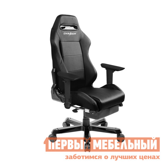 Компьютерное кресло DxRacer OH/IS03/N/FT Черный DxRacer Габаритные размеры ВхШхГ 1300 / 1410x570x550 мм. Кресла серии Iron отличаются усиленной металлической базой, повышенной грузоподъемностью. <br>Почувствуйте себя гонщиком с невероятно удобным и функциональным креслом, имитирующим сиденье спортивного автомобиля.  Высокая боковая поддержка и эргономичная форма дополнены множеством регулировок, которые помогут вам использовать кресло с комфортом даже много часов подряд. <br>Модель создана для профессиональных геймеров, с учетом потребности в неотрывном многочасовом игровом процессе.  Она также порадует любого, кто много времени проводит за компьютером. <br><br>В комплект входит выдвижная подставка для ног;<br>Подлокотники регулируются по высоте;<br>Высота сиденья изменяется в пределах от 380 до 450 мм;<br>Механизм качания;<br>Газлифт-механизм высокого качества;<br>Спинка отклоняется в пределах 170 градусов;<br>В комплекте подушки под голову и поясницу;<br>Крестовина: металл;<br>Обивка: полиуретановая искусственная кожа;<br>Наполнение: пена высокой плотности (52 кг/м