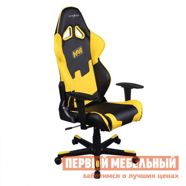 Фото Компьютерное кресло DxRacer OH/RE21/NY/NAVI Черный / Желтый. Купить с доставкой