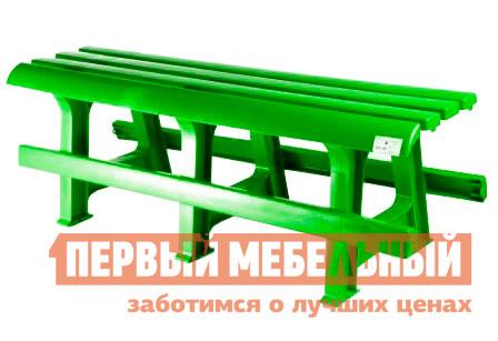 Скамейка Стандарт Пластик Скамья №3 (1200х400х420) мм ЗеленыйСкамейки и лавочки<br>Габаритные размеры ВхШхГ 420x1200x400 мм. Пластиковая садовая скамья упрощенного дизайна, без спинки, станет гармоничным дополнением для загородного участка или сада.  Оформление сидения обеспечивает отличную вентиляцию, благодаря этому на скамье удобно сидеть даже в жаркую погоду.  Скамья отлично подойдет для установки за столом.  Мебельные изделия из пластика демократичны, хорошо подходят для меблировки дачи, зоны отдыха или летнего кафе.  Скамья обладает хорошей прочностью и выдержит нагрузку до 250 кг.  Пластиковая мебель не боится перепадов температур, повышенной влажности.  Такая мебель станет верным союзником в комфортном и гармоничном отдыхе.<br><br>Цвет: Зеленый<br>Цвет: Зеленый<br>Высота мм: 420<br>Ширина мм: 1200<br>Глубина мм: 400<br>Кол-во упаковок: 1<br>Форма поставки: В разобранном виде<br>Срок гарантии: 1 год<br>Тип: Без спинки<br>Назначение: Для дачи, Для сада<br>Материал: Пластиковые<br>Размер: Маленькие, Узкие<br>Особенности: Без подлокотников