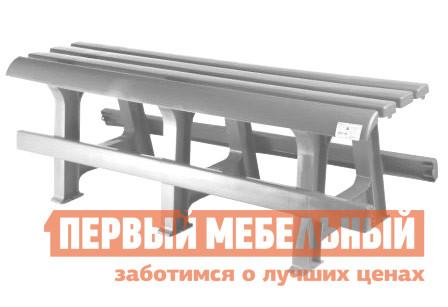 Скамейка Стандарт Пластик Скамья №3 (1200х400х420) мм Белый