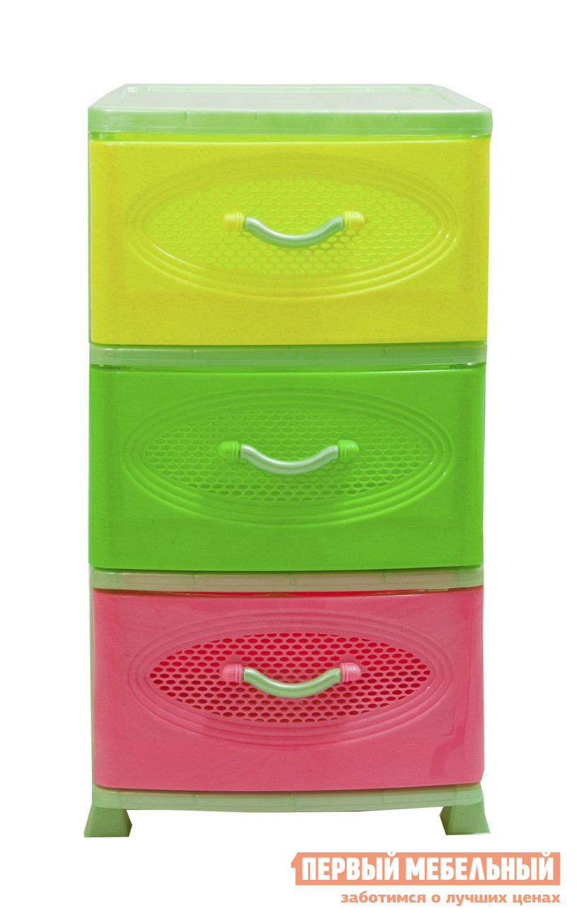 Комод детский АВП Эирбокс 3-х секционный Цветной (детский) от Купистол